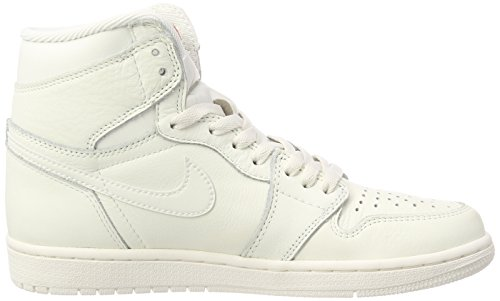 Nike Air Jordan 1 Retro High OG, Zapatillas de Gimnasia Para Hombre Blanco (University Red)