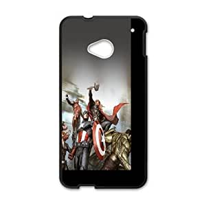Avengers Characters Illustration HTC One M7 Cell Phone Case Black phone component RT_188430