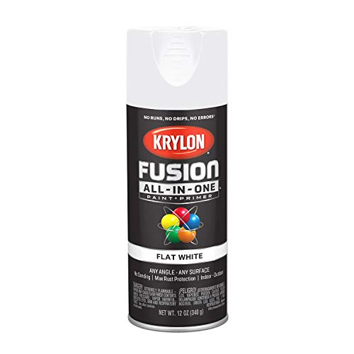 (Krylon K02730007 Fusion All-in-One Spray Paint, White)