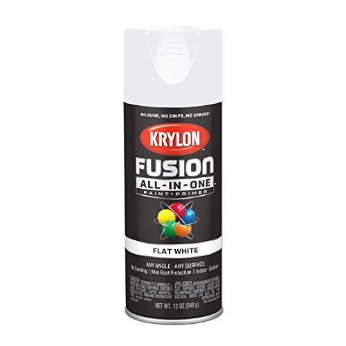 Paint Flat White Spray - Krylon K02730007 Fusion All-in-One Spray Paint, White