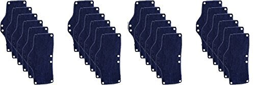 Occunomix Snap-On Hard Hat Sweatband, Beat the Heat, Blue, 6 Count (4-(Pack))