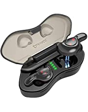 ANVASK Wireless Headphones, Bluetooth Headphones in Ear, Bluetooth 5.0 Sports Headphones with IPX5 Waterproof, 3D Stereo Sound, in-ear Earbuds Built-in CVC 6.0 Mic Secure Fit for Running, Cycling, Gym
