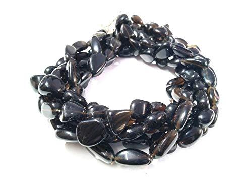 Mughal Gems & Jewellery Smoky Quartz Nuggets Tumble 9x14-9x16mm Smooth Gemstone Beads 13
