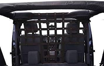 Dirtydog 2007-2018 Jeep Wrangler JKU 4 Door Cargo//Pet Full Divider Black