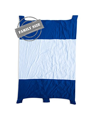 Beach Blanket with Zipper Design Stitched with New Water Proof and Sand Proof Diamond Rip-Stop Nylon Parachute Material Picnic Beach Blanket By Jeneric Designs (Nylon Material Ripstop)