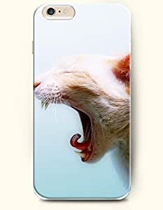 SevenArc Apple iPhone 6 Case 4.7 Inches - Cat Is Angry-Opening Its Mouth