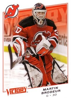 Victory Hockey Cards (Martin Brodeur 2008-09 Upper Deck Victory NHL Hockey Card #77 New Jersey)