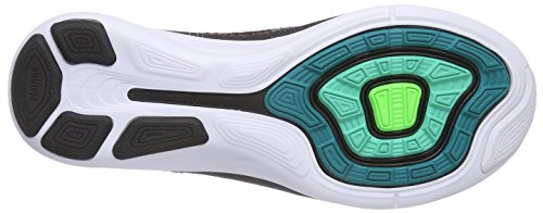 Nike Mens Flyknit Lunar3, Smeraldo Radiante / Nero-iper Punch Smeraldo Luminoso / Nero-iper Punch
