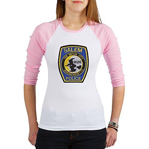 CafePress - Salem Police Jr. Raglan - Jr. Raglan T-shirt, Slim Fit Junior (Salem Mass Witch Trials Halloween)