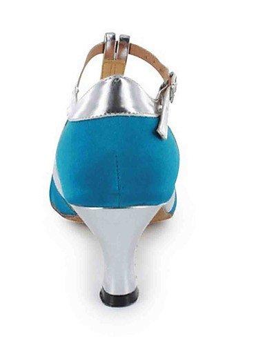 ShangYi Chaussures de danse(Noir / Bleu / Marron / Violet / Rouge / Or) -Personnalisables-Talon Personnalisé-Similicuir-Latine , brown-us6 / eu36 / uk4 / cn36 , brown-us6 / eu36 / uk4 / cn36