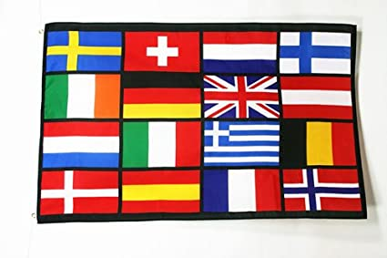 Az Flag Bandiera Paesi Deuropa 150x90cm Bandiera Unione Europea