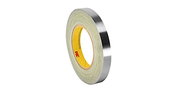 3M 420 Dark Silver Lead Foil Tape Roll Safety Tapes TapeCase 2-5-420 x 15 ft Conformable Tape Rubber Adhesive 2 in