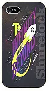 iPhone 5 / 5s Dark space, to infinity and beyond - black plastic case / Walt Disney And Life Quotes, story, toy