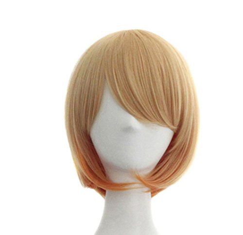 [Jooyi® High Quality BOBO Head Style Anime Fashion Short Straight Hair Wig Lace Front Edge Bangs Wig Women Cosplay /Party Costume Wig (Light] (Lavender Marie Antoinette Wig)