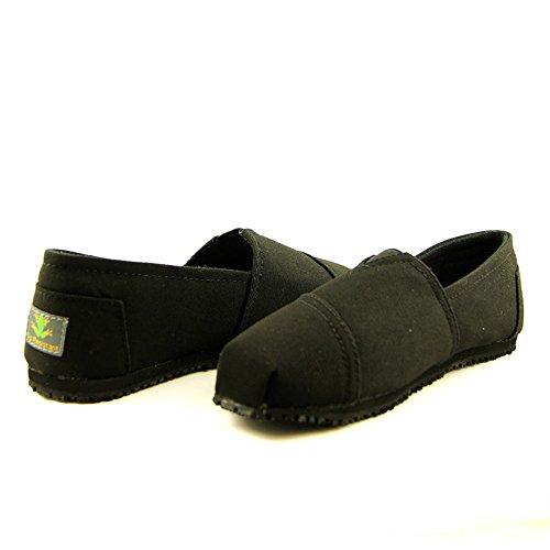 Laforst Dale 3312 Womens Work Slip Resistant Flat Slip On Shoes Black 8.5