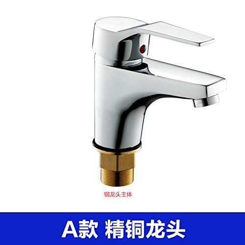 A Full Copper Fittings Hlluya Professional Sink Mixer Tap Kitchen Faucet Basin mixer basin cold water tap basin sink faucet single hole with high copper fittings, B full copper fittings