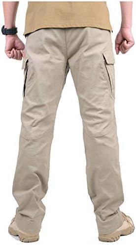 GooDoi Pantalones De Carga Pantal/ón Tactico Hombre Pantal/óN de Trabajo De Combate Pantalones Militares para Exteriores Acampar Senderismo Caminar