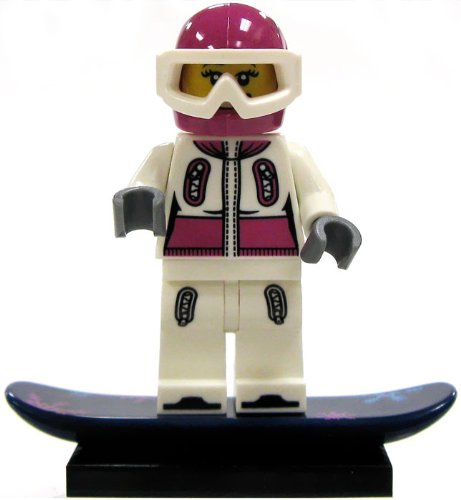 LEGO Minifigure Collection Series 3 LOOSE Mini Figure Female Snowboarder (Lego Tribal Chief)