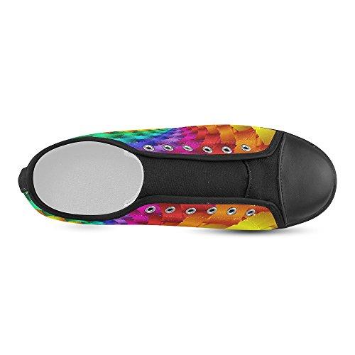 Scarpe Da Ginnastica A Spirale Arcobaleno Psichedelico Artsadd (modello016)