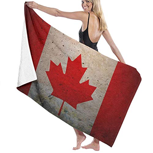 ファイアルどちらか差し引くビーチバスタオル バスタオル カナダの旗 バスタオル 海水浴 旅行用タオル 多用途 おしゃれ White