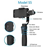 JXR-S5 Handheld Gimbal for iPhone & Android Smartphones -Smooth Phone Stabilizer Camera Mount Handheld Gimbal Smart Bluetooth