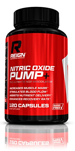 Nitric Oxide Pump+ - Powerful N.O. Pre Workout w/ L-Arginine, Citrulline Malate & Agmatine Sulfate - Stimulates Blood Flow & Enhances Recovery for Increased Muscle Mass - 120 Vegetable Capsules