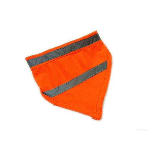 Encell Set of 2 Dog Reflective Scarf Safety Pet Bandana,Orange,M (Safety Bandana)