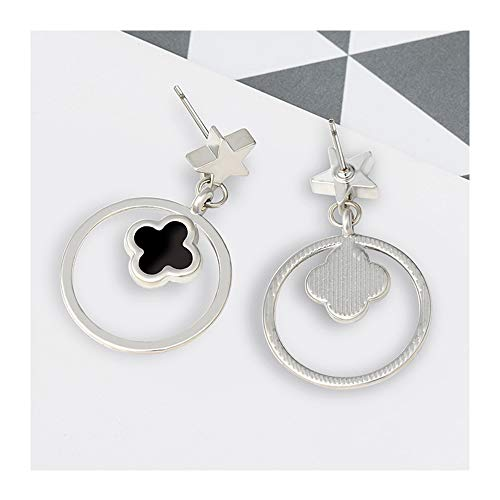 Four-leaf Clover Stud Earring Rose Gold Hypoallergenic Titanium Steel Stud Earring Female Accessories Stud Earrings-197 ()