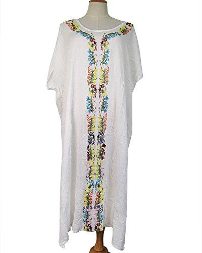 Da bianca Bagno Costume Donna Per Copricostumi Cover Tunica Parei Ricamo V 42 F It Bikini 36 Imixcity collo Up 61xzFwgg