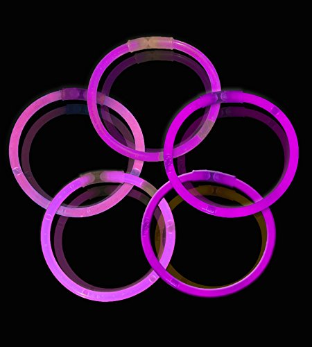 Lumistick 10 Inch Glow Sticks - Glow Sticks with Necklace and Bracelet Connectors - Glowstick Bundle Party Bracelets (100, -