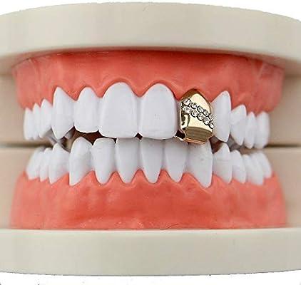 Dfghbn-DG Parrillas dentales Diente de Plata Unisex Chapado ...