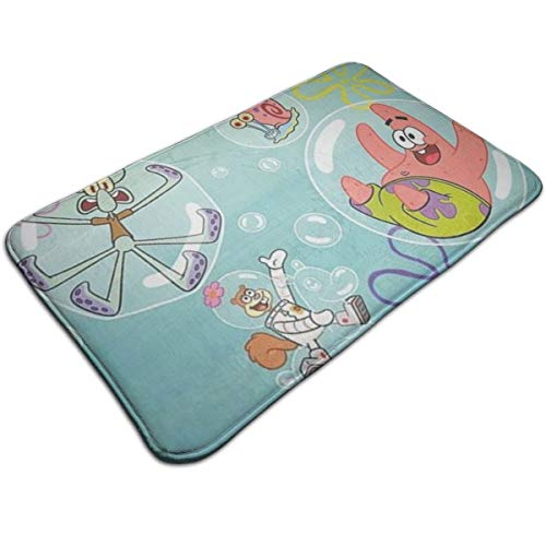 Duwamesva Bath Mat- Spongebob Squarepants Design, Non Slip Absorbs Soft Rug Carpet for Indoor Outdoor Patio (Sponge Rugs For Bob Bathroom)