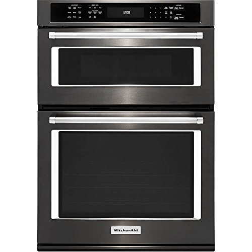 KitchenAid KOCE507EBS 27 Black Stainless Convection Combination Wall Oven