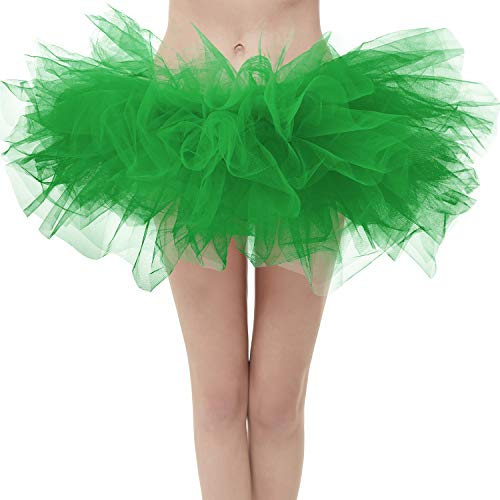 Topdress Layered Tulle Tutu Skirts Green Regular -