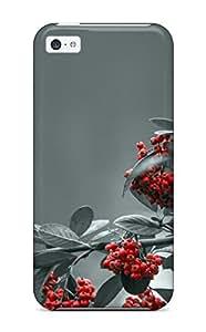 linJUN FENGTpu Shockproof/dirt-proof Rowan Berries Cover Case For Iphone(5c)