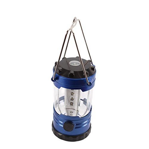 1 Pc Sublime Popular 12x LED Nightlight Lantern Desk Lamp Shockproof Fishing Flashlight Colors Blue with Compass