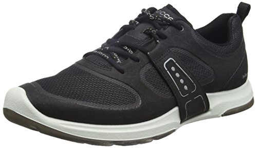 ECCO Women's Biom Amrap Tie Fashion Sneaker, Black/Black, 36 EU/5-5.5 M US