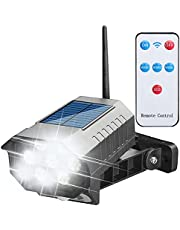 Solar Powered Fake Security Camera, Dummy Simulated CCTV Surveillance System with LED PIR Motion Sensor Detection Light for Indoor Outdoor Home, Office, Shop, Garage (42 LED with Remote Control)