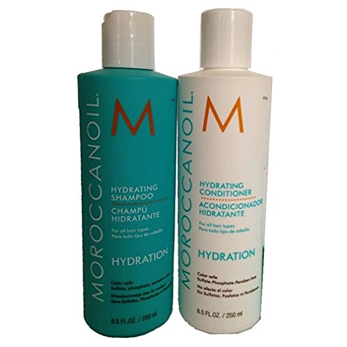 Moroccanoil Hydrating Shampoo Plus Conditioner, 8.5 oz, 2 Count MOR-HYDC250 & HYDS250