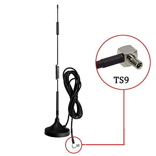 TS9 Antenna 7DBi 4G LTE CPRS GSM 3G 2.4G WCDMA Omni Directional Antenna with Magnetic Stand Base 10ft Extension Cable…