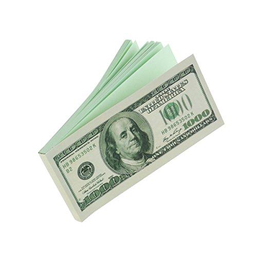 Dollar Notepad - TinkSky $100 Bill 6.5-inch Dollar Memo Dollar Notepad Writing Pad (Green)