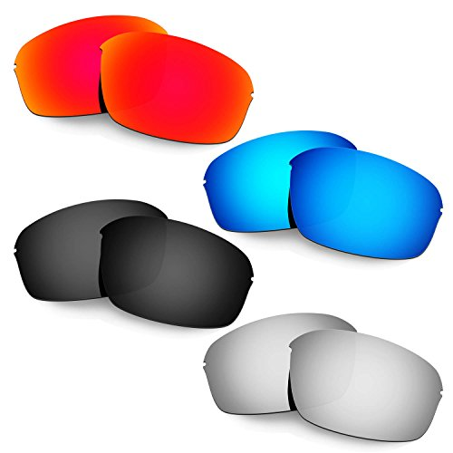 Hkuco Mens Replacement Lenses For Oakley Half Wire 2.0 Red/Blue/Black/Titanium - Wire Oakley Lenses Half Replacement