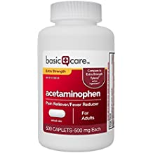 Basic Care Extra Strength Acetaminophen Caplets, 500 Count