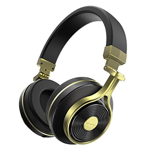 Bluedio T3 (Turbine 3rd) Extra Bass Wireless Bluetooth 4.1 Stereo Headphones (Gold)