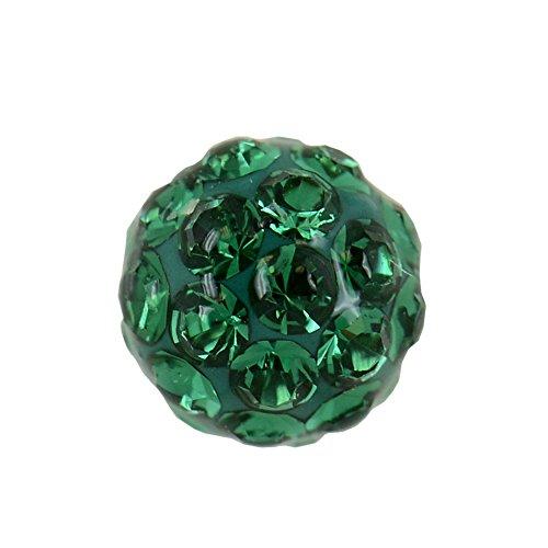 ular 6mm Emerald Crystal Fireball Stainless Steel Stud Earrings (Tiffany Emerald Earrings)