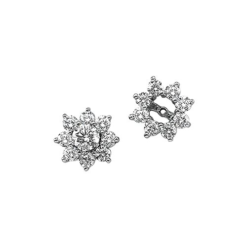 14K White Gold 1 1/5 ct. Diamond Earring Jackets by KATARINA