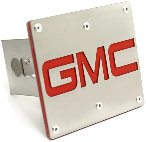 GMC Trailer 2 Hitch Plug Cover Cap Brushed Stainless Steel