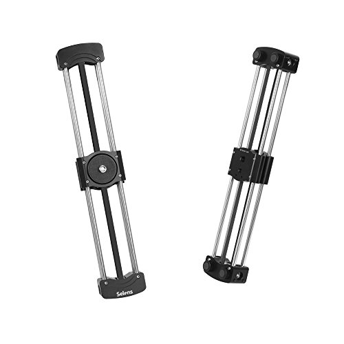 Selens 12''/33cm Mini Camera Track Slider Follow Focus Rail for DSLR Camera DV Smart Phone and Gopro Video Movie Film Video Making Photography, Load up to 11lbs / 5kg