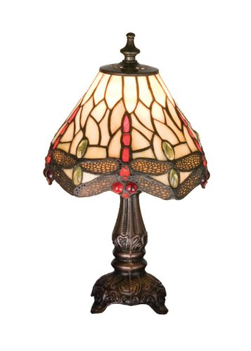Meyda Home Office Restaurant Party Indoor Decorative 11.5''H Tiffany Hanginghead Dragonfly Mini Lamp by Meyda