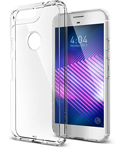 Caseology Waterfall for Google Pixel Case (2016) - Minimal & Transparent - Clear